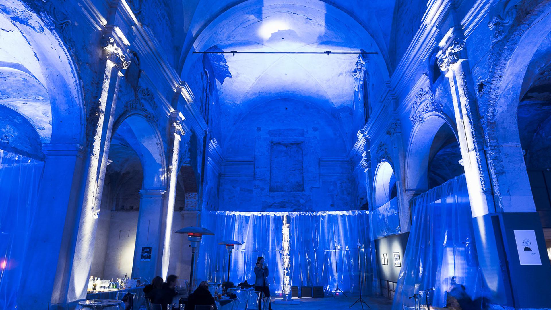 mostra Andrea Negri-installazione illuminotecnica-lorri