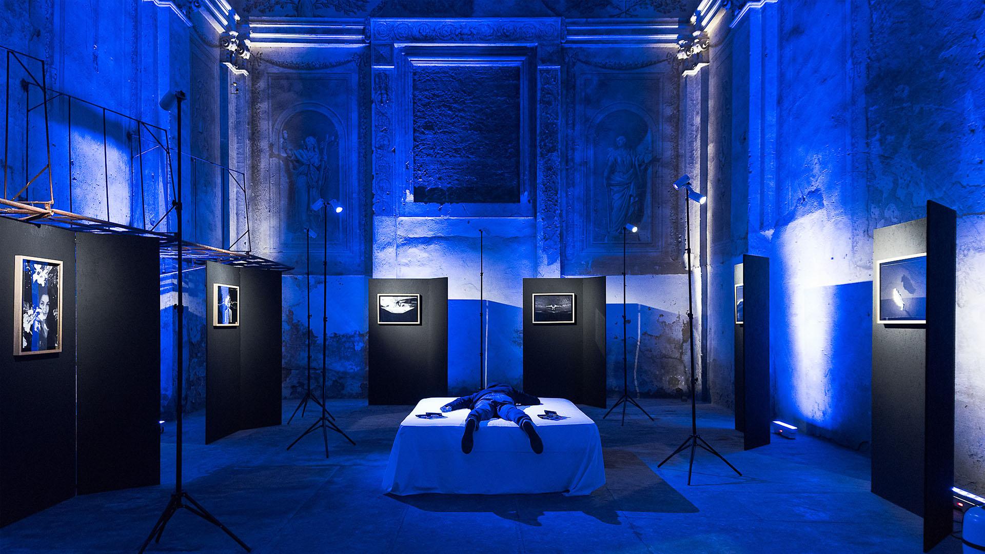 mostra Andrea Negri-installazione multimediale e illuminotecnica-lorri