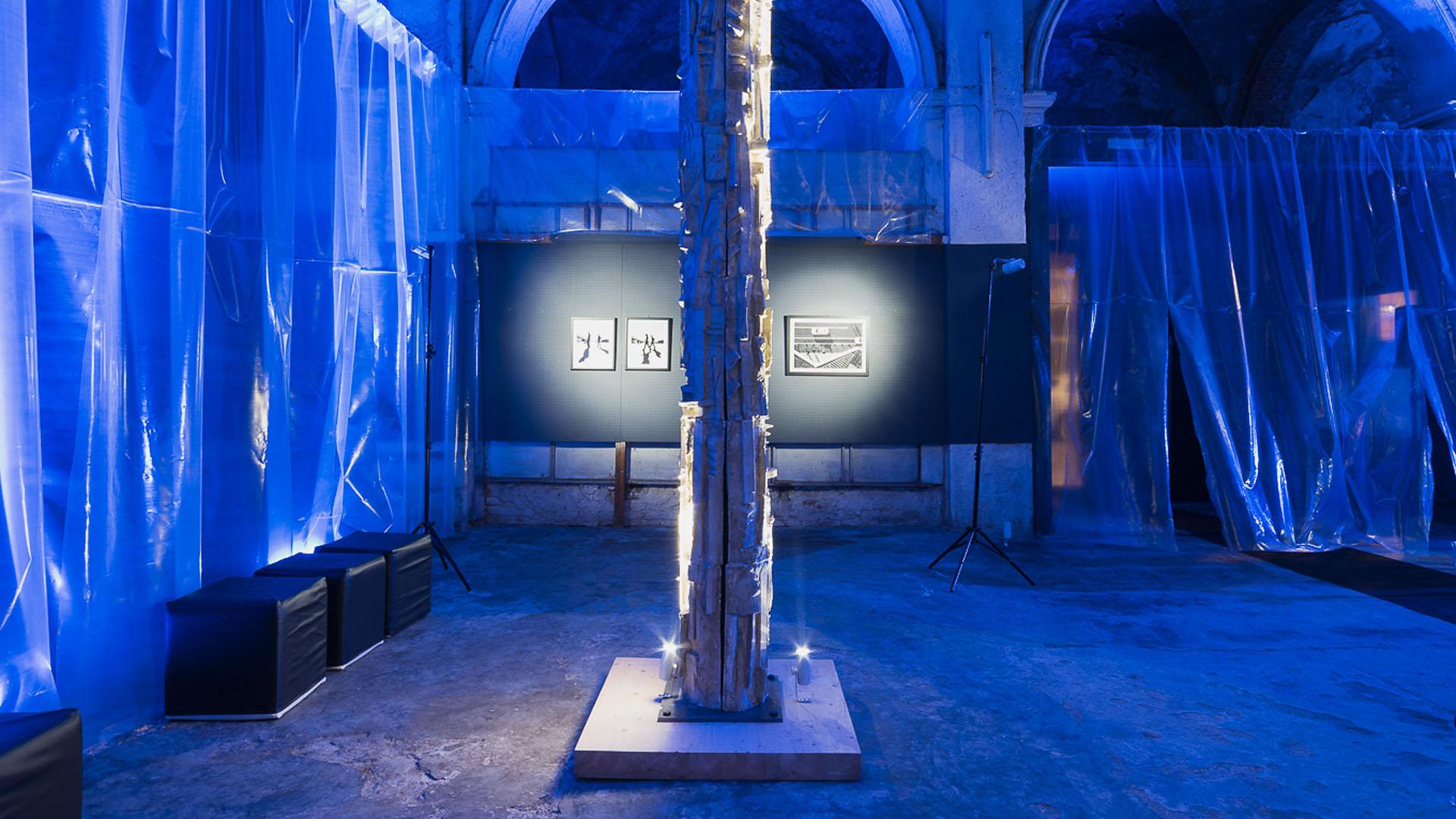 mostra Andrea Negri - installazione multimediale e illuminotecnica-lorri